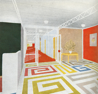 Design for interior flooring based on a scheme used at Carpenders Park School