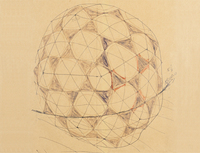 Sketch of a geodesic dome